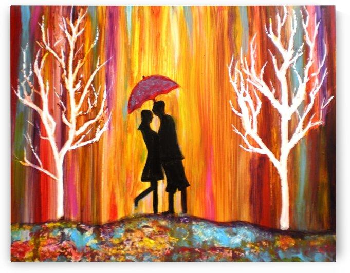 Romance in the Rain II by ArtbyManjiri