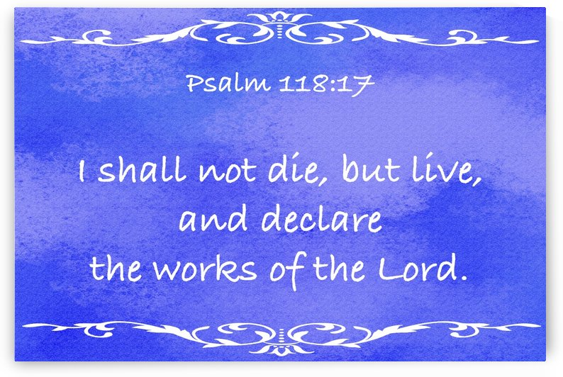 Psalm 118 17 3BL by Scripture on the Walls