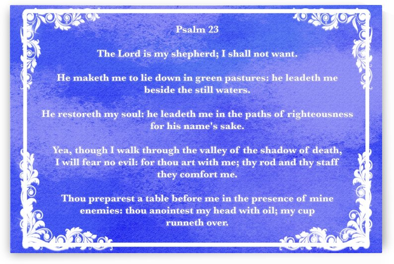 Psalm 23 9BL by Scripture on the Walls