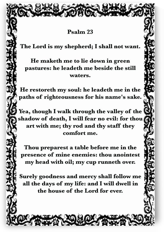 Psalm 23 10WB by Scripture on the Walls