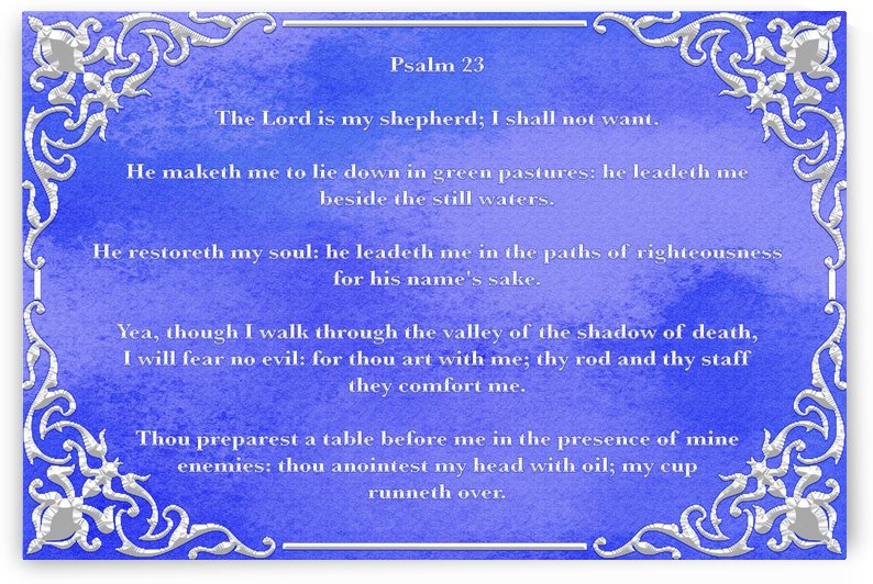 Psalm 23 1BL by Scripture on the Walls