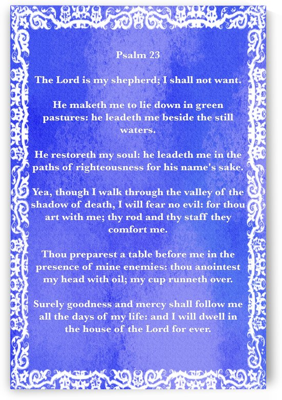 Psalm 23 10BL by Scripture on the Walls