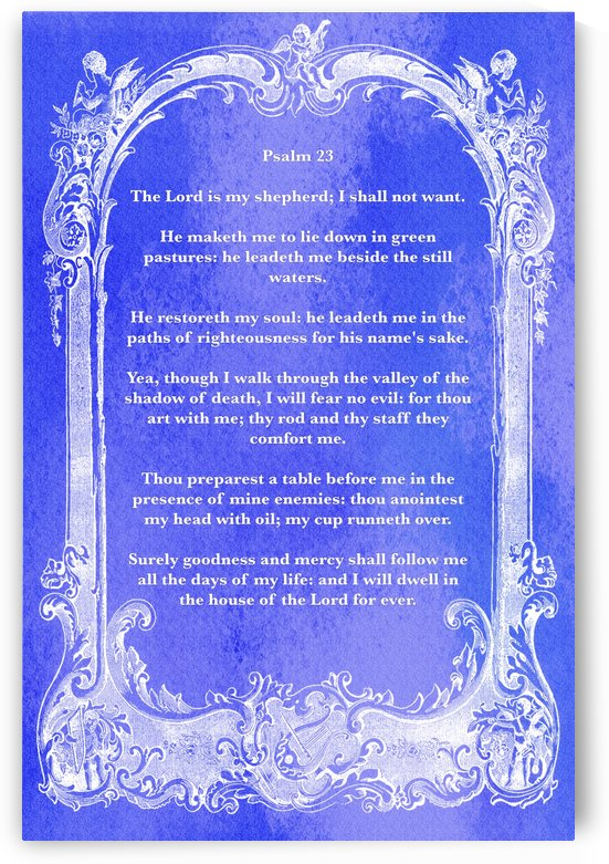 Psalm 23 7BL by Scripture on the Walls