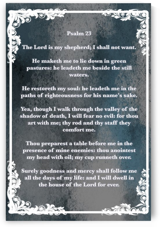 Psalm 23 8CH by Scripture on the Walls