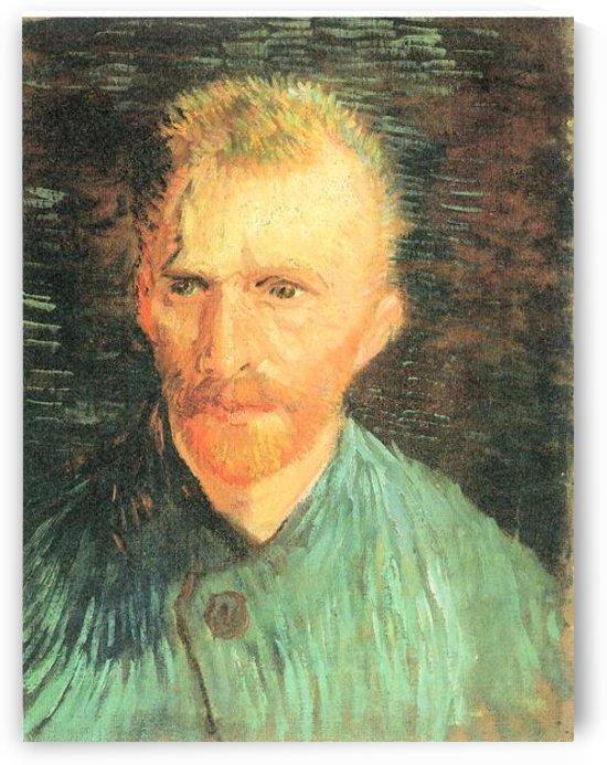 Self-portrait in green by Van Gogh by Van Gogh
