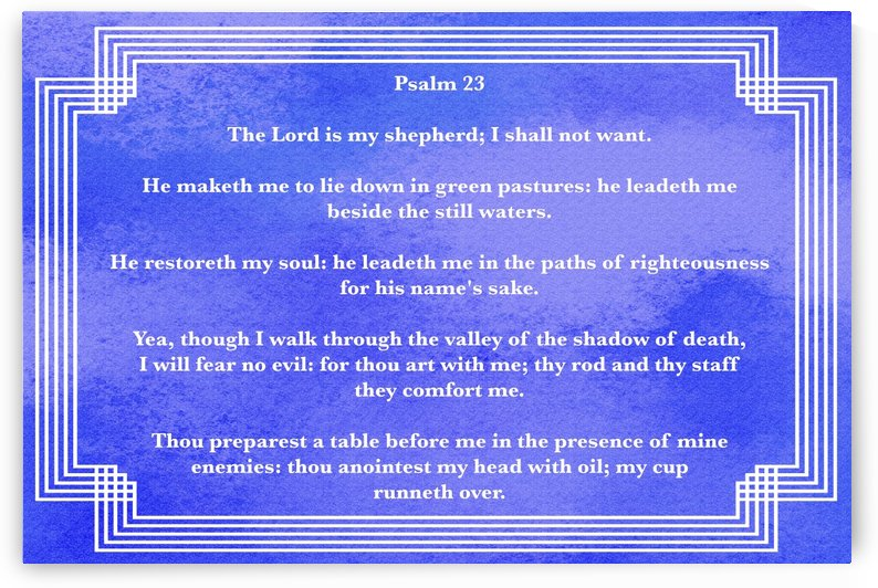 Psalm 23 2BL by Scripture on the Walls