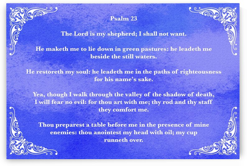 Psalm 23 5BL by Scripture on the Walls