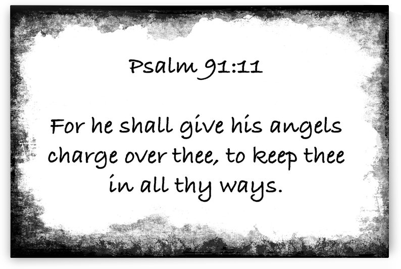 Psalm 91 11 6WB by Scripture on the Walls