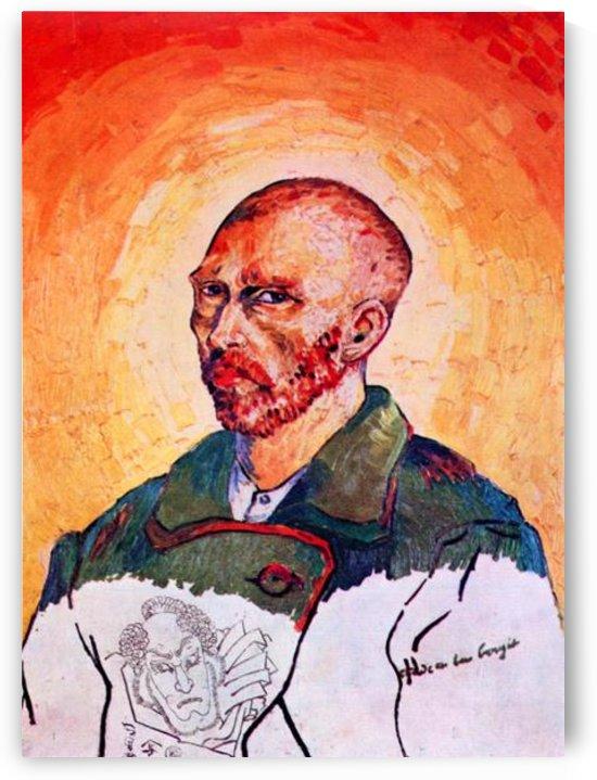 Self-portrait study by Van Gogh by Van Gogh