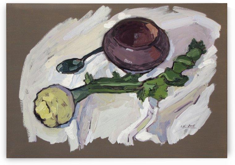 Still Life with Celery by Ivan Kolisnyk