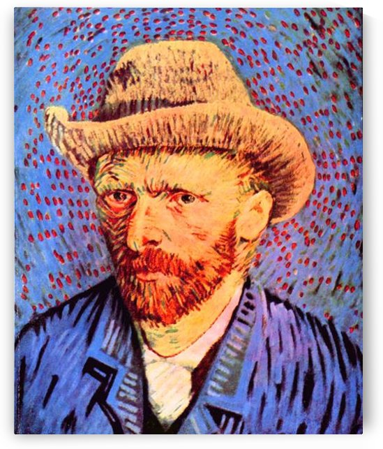 Self-portrait with a gray felt hat -2- by Van Gogh by Van Gogh