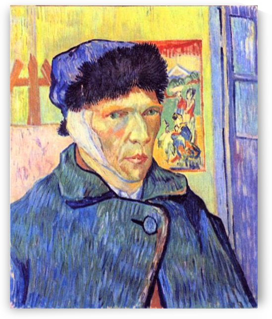Self-Portrait with cut ear -2- by Van Gogh by Van Gogh