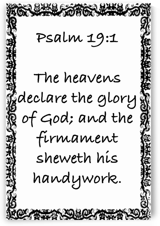 Psalm 19 1 10WB by Scripture on the Walls