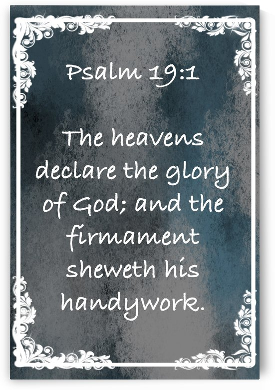 Psalm 19 1 8CH by Scripture on the Walls