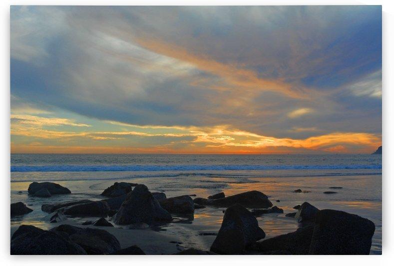 Ocean Sunset by Senthia Sanders