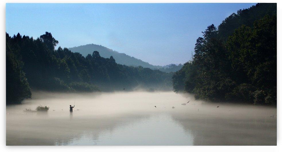 River Fly Fishing by Senthia Sanders
