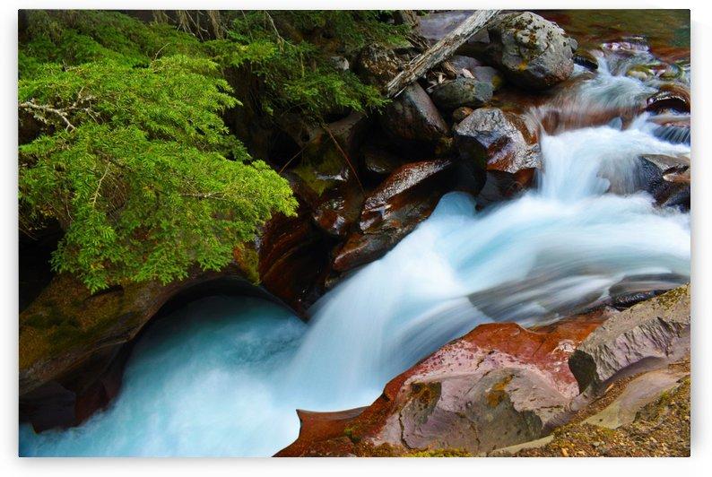 Glacier Falls 2 by Senthia Sanders