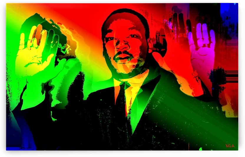Martin Luther King - Dont Shoot - by Neil Gairn Adams by Neil Gairn Adams