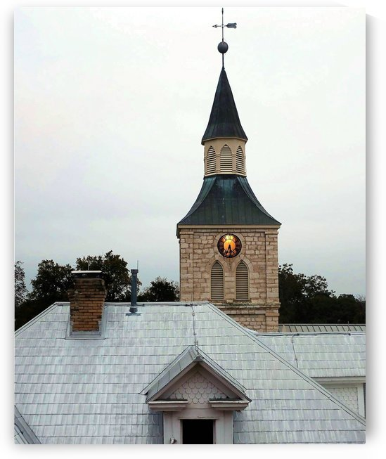 Early Evening Church Steeple by Ellen Barron O-Reilly