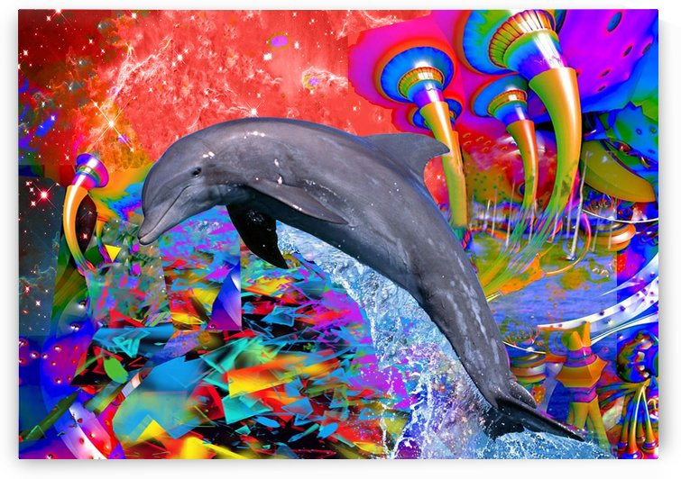 Dolphin Color Splash by Matthew Lacey