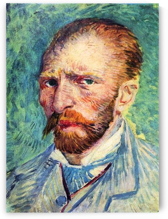 Self-portrait with light blue tie by Van Gogh by Van Gogh