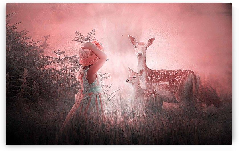 Good morning deer by khaled Aljaber