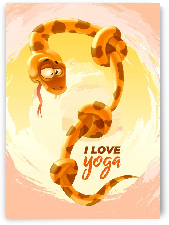 Cute snake doing Yoga by Adi Daniel Antone
