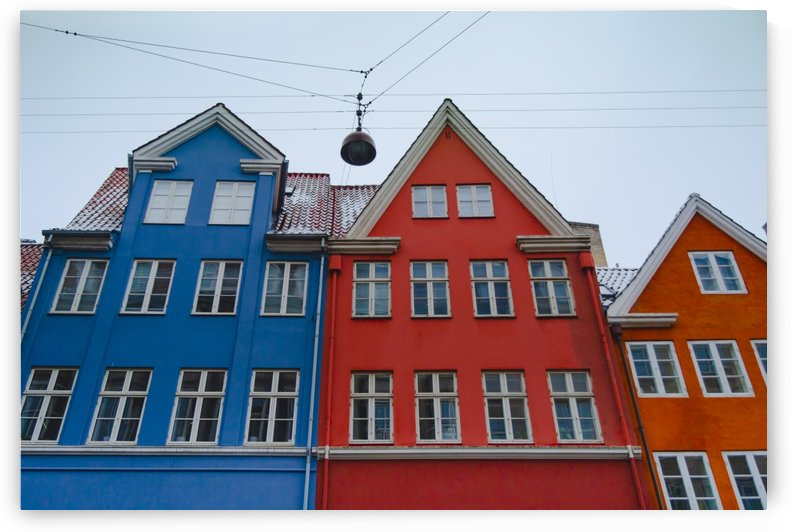 The red and blue house in Copenhagen by Dalius Baranauskas