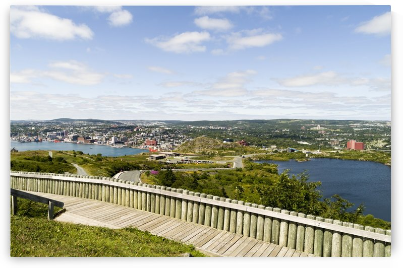 St. Johns Harbour and part of the city from Signal Hill 3 by Bob Corson
