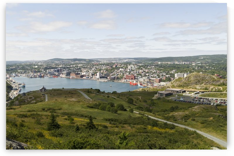 The Queens Battery the harbour and St. Johns by Bob Corson