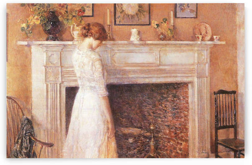 In the old house by Hassam by Hassam