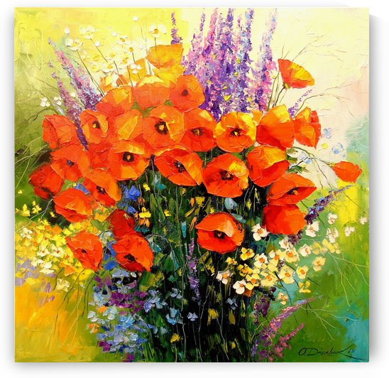 Bouquet of red poppies by Olha Darchuk