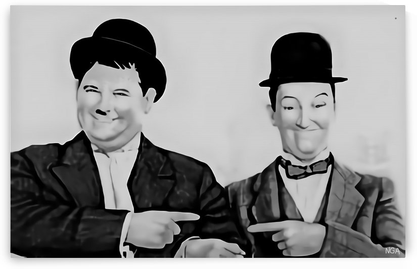 Laurel and Hardy -  by Neil Gairn Adams  by Neil Gairn Adams