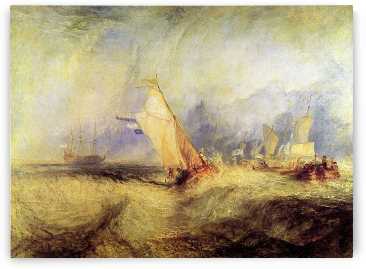 Ships at sea by Joseph Mallord Turner by Joseph Mallord Turner