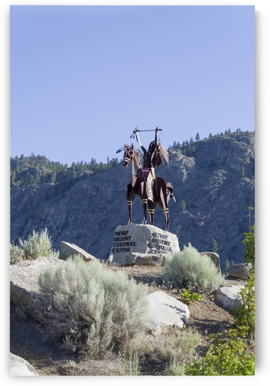 Statue at the Entrance to Spirit Ridge by Bob Corson