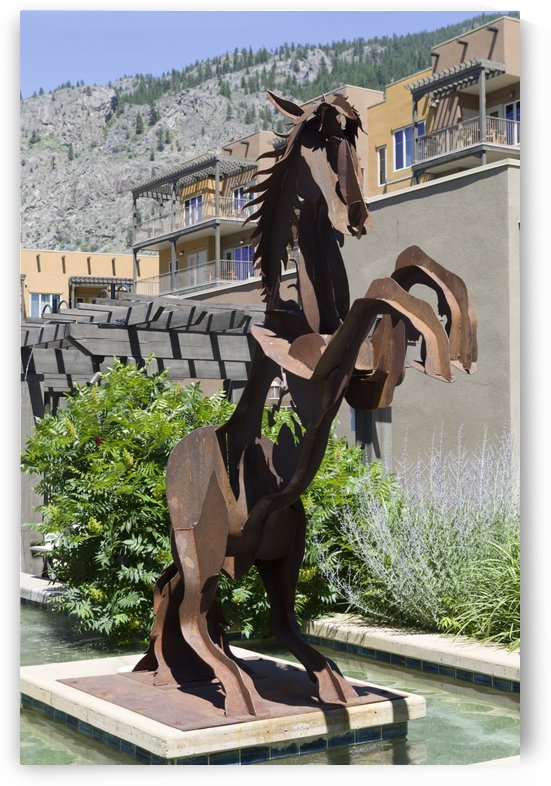 Metal Horse sculpture by Bob Corson