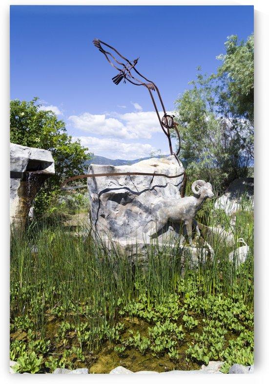 Big horn sheep statue by Bob Corson