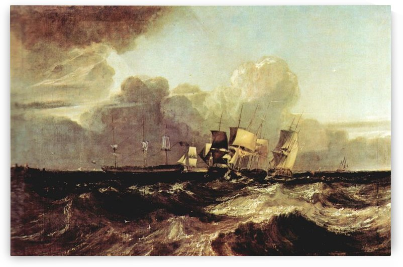 Ships going to anchorage by Joseph Mallord Turner by Joseph Mallord Turner