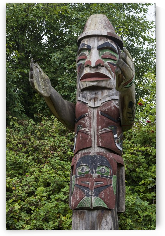 Totem pole of Granville Island 2 by Bob Corson