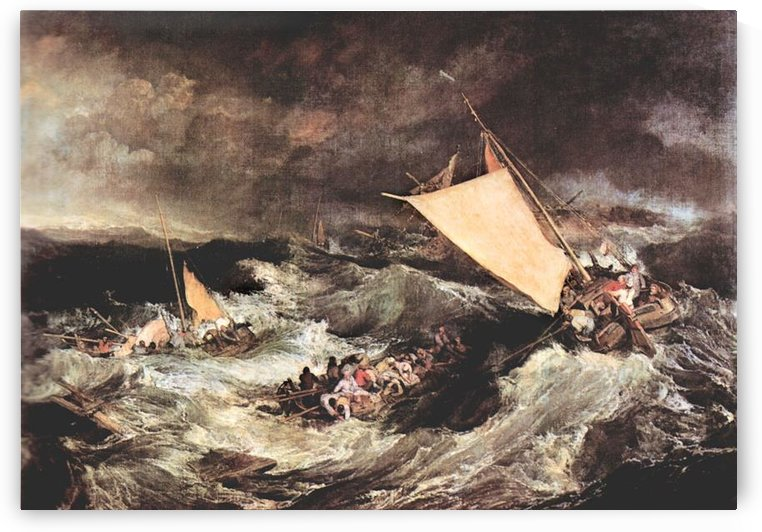 Shipwreck by Joseph Mallord Turner by Joseph Mallord Turner