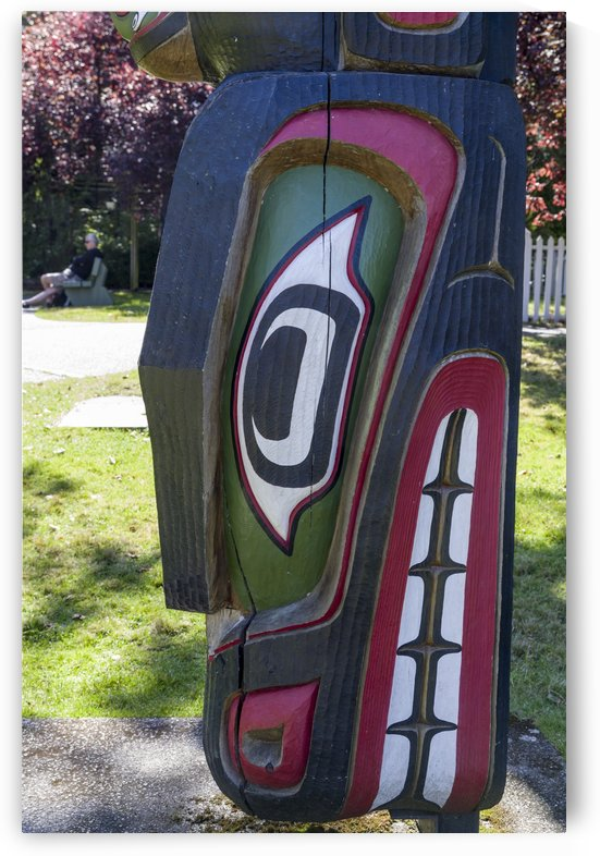 Totem Poles in Thunderbird Park Victoria BC 15 by Bob Corson
