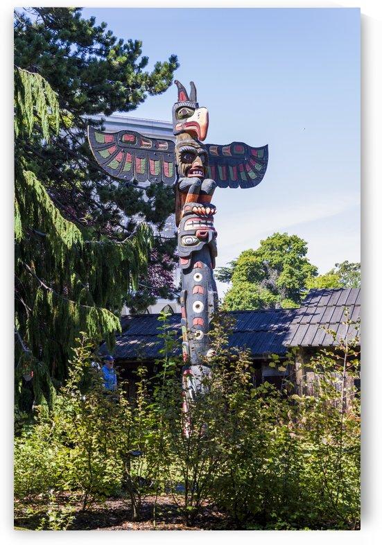 Totem Poles in Thunderbird Park Victoria BC 1 by Bob Corson