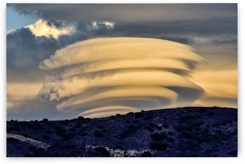 Lenticular Clouds at Sunset 6  by Linda Brody