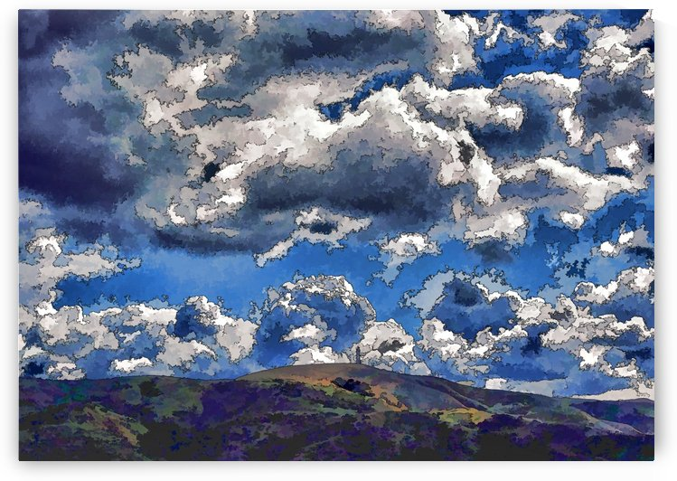 Sky Full of Clouds 2 Abstract 2 by Linda Brody