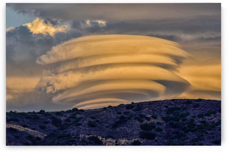 Lenticular Clouds at Sunset 4  by Linda Brody