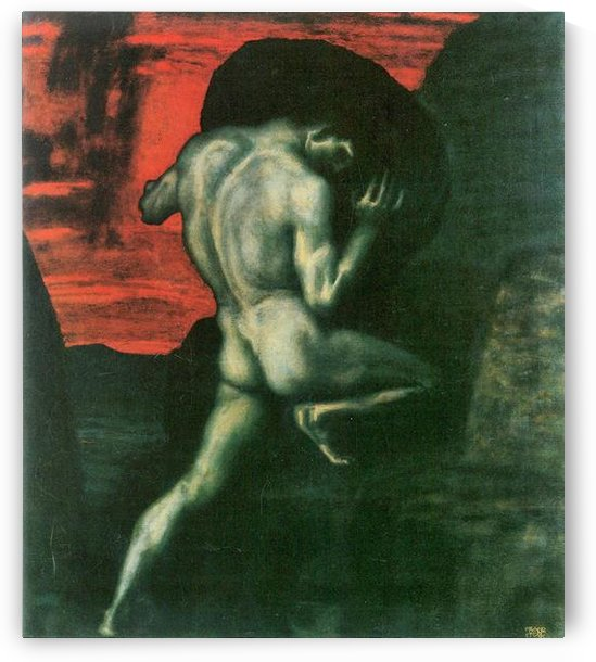 Sisyphus by Franz von Stuck by Franz von Stuck