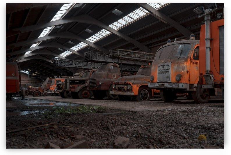 Abandoned Fire Truck Graveyard by Steve Ronin