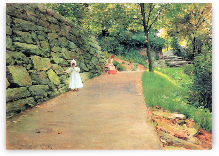 In the Park - A byway by William Merritt Chase by William Merritt Chase