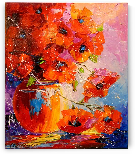 A bouquet of poppies by Olha Darchuk