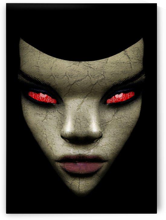 Evil Nun Close Up Portrait Illustration by Daniel Ferreia Leites Ciccarino